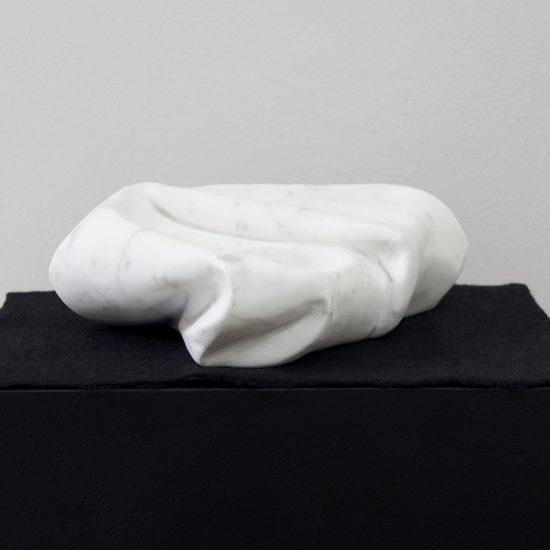 Enfold, Carrara marble, 2020. Photo: Ellen Dahl