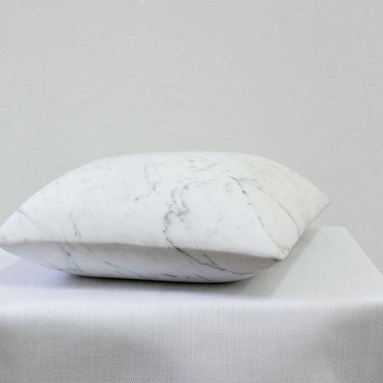 Pillow, Carrara marble, 2019. Photo: Ellen Dahl
