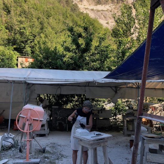 Marble carving workshop, Carrara, 2019.