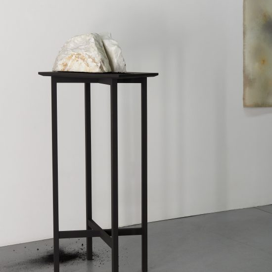 Sylvia Griffin Marble and charcoal on stand Second Skin