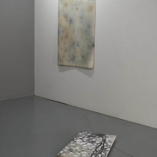 Sylvia Griffin marble floor work and painting Second Skin