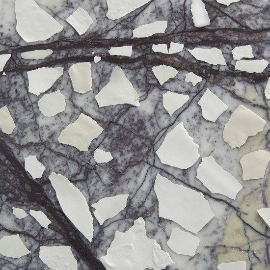 Sylvia Griffin plaster shards onmarble Second Skin