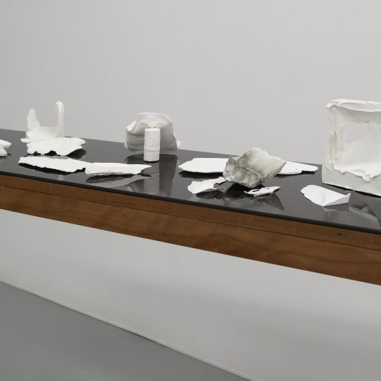 Sylvia Griffin marble and plaster shards on table Second Skin